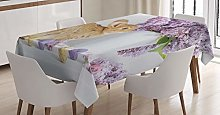 ABAKUHAUS Easter Bunny Tablecloth, Rabbit with
