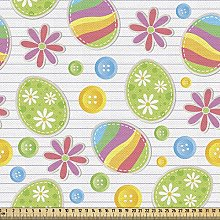 ABAKUHAUS Easter Fabric by The Yard, Patchwork