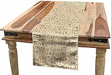 ABAKUHAUS Egyptian Table Runner, Old Dated