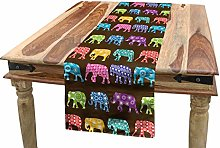 ABAKUHAUS Elephant Table Runner, Animals with