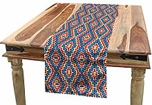 ABAKUHAUS Ethnic Table Runner, Vivid Ornament with