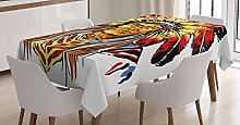 ABAKUHAUS Ethnic Tablecloth, Chief, Dining Room