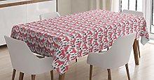 ABAKUHAUS Ethnic Tablecloth, Folk Dala Horse with