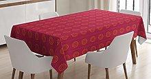 ABAKUHAUS Ethnic Tablecloth, Sun Inspired Ethnic,