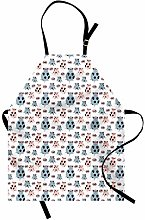 ABAKUHAUS Farm Animal Apron, Cartoon Pigs Art,