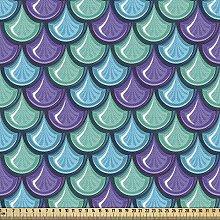 ABAKUHAUS Fish Fabric by The Yard, Marine Animal