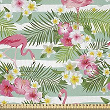 ABAKUHAUS Flamingo Fabric by The Yard, Flamingos