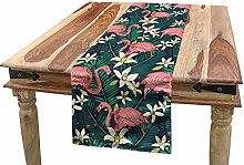 ABAKUHAUS Flamingo Table Runner, Hawaiian Exotic