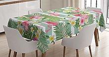 ABAKUHAUS Flamingo Tablecloth, Flamingos with