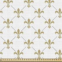 ABAKUHAUS Fleur De Lis Fabric by The Yard, Fleur