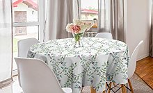 ABAKUHAUS Floral Round Tablecloth, Illustration of