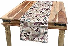 ABAKUHAUS Floral Table Runner, Butterfly and