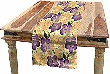ABAKUHAUS Floral Table Runner, Romantic Purple