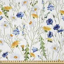 ABAKUHAUS Flower Fabric by The Yard, Wild Flowers