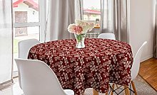 ABAKUHAUS Flower Round Tablecloth, Blossoming