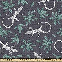 ABAKUHAUS Gecko Fabric by The Yard, Hand Drawn