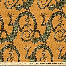 ABAKUHAUS Gecko Fabric by The Yard, Lizard Pattern