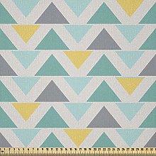 ABAKUHAUS Geometric Fabric by The Yard, Chevron