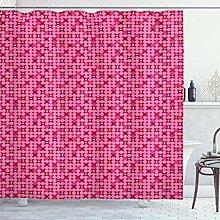 ABAKUHAUS Geometric Shower Curtain, Modern