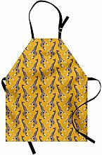 ABAKUHAUS Giraffe Apron, Ornamental Animal Figures