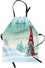 ABAKUHAUS Gnome Apron, Elf Tomte Standing on Snow,