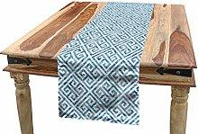 ABAKUHAUS Greek Key Table Runner, Tile Mosaic
