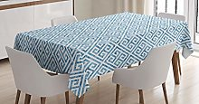 ABAKUHAUS Greek Key Tablecloth, Camo Effect