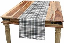 ABAKUHAUS Grey Table Runner, Pattern with Modified
