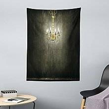 ABAKUHAUS Grunge Tapestry, Classic Chandelier in a