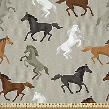 ABAKUHAUS Horses Fabric by The Yard, Abstract