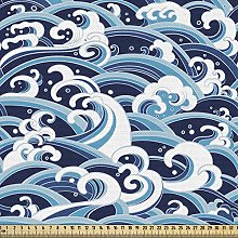 ABAKUHAUS Japanese Wave Fabric by The Yard,