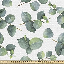 ABAKUHAUS Leaf Fabric by The Yard, Watercolor