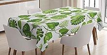 ABAKUHAUS Leaf Tablecloth, Swirls Palm Banana
