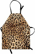ABAKUHAUS Leopard Print Apron, Wild Animal Skin,