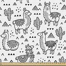 ABAKUHAUS Llama Fabric by The Yard, Abstract