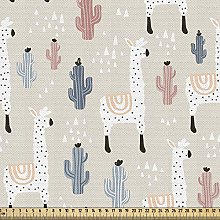 ABAKUHAUS Llama Fabric by The Yard, Pattern with