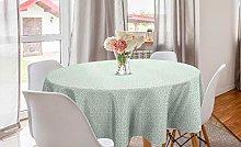 ABAKUHAUS Luau Round Tablecloth, Flourish Pattern