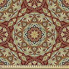 ABAKUHAUS Mandala Fabric by The Yard, Ethnic