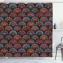 ABAKUHAUS Mandala Shower Curtain, Pattern with and