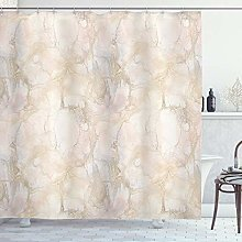 ABAKUHAUS Marble Shower Curtain, Pastel Colored