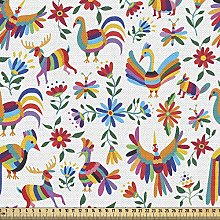 ABAKUHAUS Mexican Fabric by The Yard, Traditional