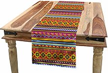 ABAKUHAUS Mexican Table Runner, Folkloric Old