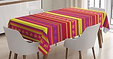 ABAKUHAUS Mexican Tablecloth, Vibrant Lizard