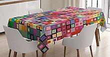 ABAKUHAUS Modern Tablecloth, Modern Colored