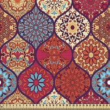 ABAKUHAUS Moroccan Fabric by The Yard, Oriental