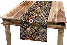 ABAKUHAUS Moroccan Table Runner, Ethnic Mexican