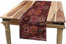 ABAKUHAUS Moroccan Table Runner, Vintage Tile