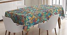 ABAKUHAUS Moroccan Tablecloth, Oriental Motifs,