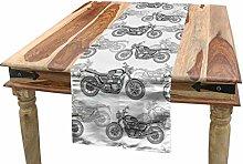 ABAKUHAUS Motorcycle Table Runner, Realistic