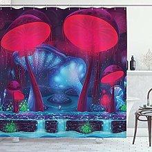 ABAKUHAUS Mushroom Shower Curtain, Magic Mushrooms